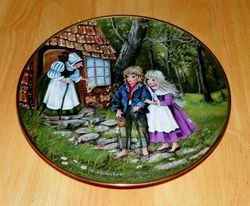 Collector Plate Hansel and Gretel Classic Fairy Tales German Kaiser w/COA