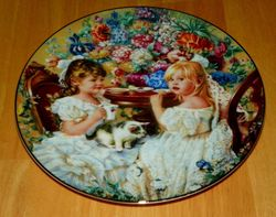 Collector Plate Hearts and Flowers from Sandra Kuck Collection Tea Party 1991