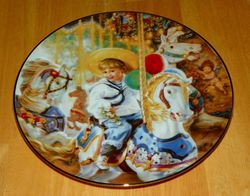 Collector Plate Hearts and Flowers Sandra Kuck Collection Carousel of Dreams 92