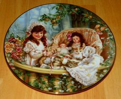 Collector Plate Hearts and Flowers Sandra Kuck Collection Cats in the Cradle 91