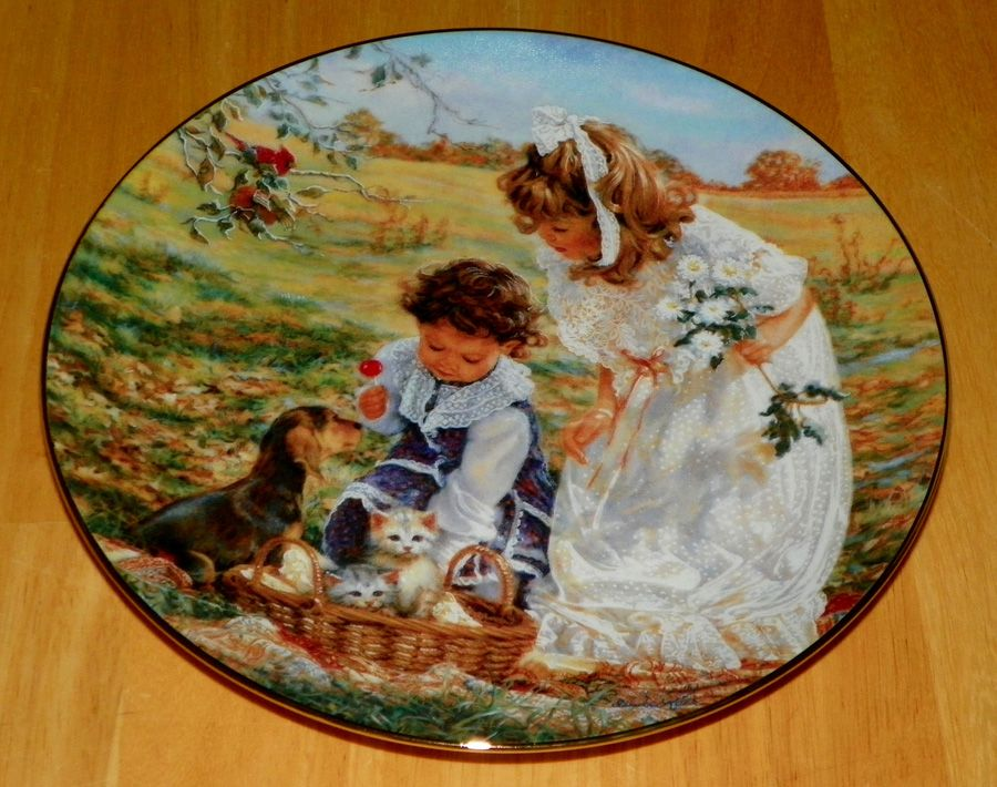 Carousel of Dreams Collector Plate by Sandra Kuck 4th Issue of The Hearts and Flowers Collection