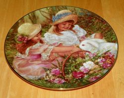 Collector Plate Hearts and Flowers Sandra Kuck Collection Easter Morning Visitor