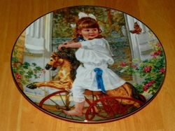 Collector Plate Hearts and Flowers Sandra Kuck Collection Me and My Pony