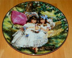 Collector Plate Hearts and Flowers Sandra Kuck Collection Storybook of Memories