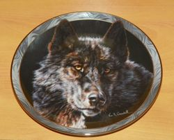 Collector Plate Keeper of the Night Mystic Spirit Collection Wolves Wolf Out of Stock
