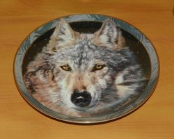 Collector Plate Midnight Snow Mystic Spirit Collection Wolves Wolf