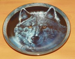 Collector Plate Moon Shadows Mystic Spirit Collection Wolves Wolf