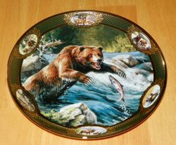 Collector Plate National Fish Wildlife Franklin Mint Heirloom Grizzly Bear Out of Stock