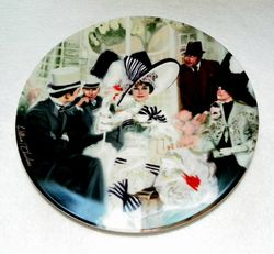 Collector Plate Opening Day at Ascot My Fair Lady 1st 1989 Box & COA