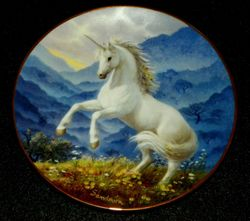 Collector Plate Princeton Gallery Misty Hills of the Unicorn