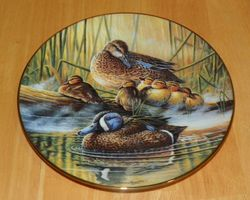 Collector Plate Quiet Moment A Loving Look Duck Families Series 1991 COA