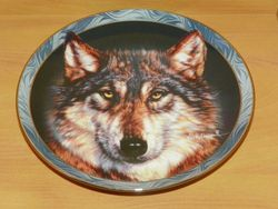 Collector Plate Silent Encounter Mystic Spirit Collection Wolves Wolf Out of Stock