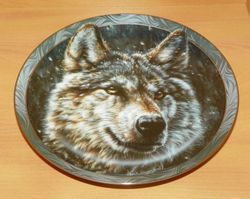Collector Plate Silent Night Mystic Spirit Collection Wolves Wolf Out of Stock