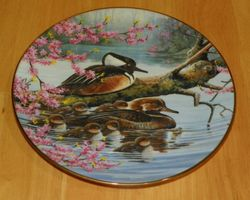 Collector Plate Spring Arrivals A Loving Look Duck Families Series 1991 COA