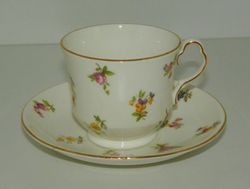 Collingwoods English China Cup and Saucer Pattern 403 Multicolor Floral Sprigs