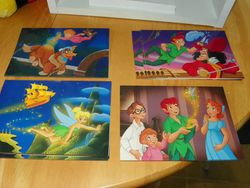 Disney Catalog Peter Pan Note Cards 4 Scenes with 5 Cards Each 20 Total Env