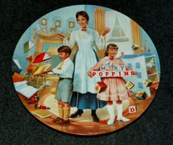 Disney Collector Plate A Spoonful of Sugar Mary Poppins 5th issue COA included Out of Stock