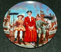 Disney Collector Plate Chim Chim Cher-ee Mary Poppins 5th issue COA included Out of Stock
