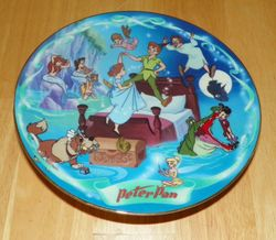 Disney Collector Plate Flight to Neverland Peter Pan Disney's Musical Memories Out of Stock