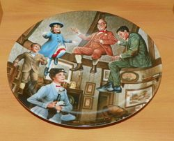Disney Collector Plate We Love to Laugh Mary Poppins 4th issue COA included Out of Stock
