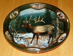 Collector Plate National Fish Wildlife Franklin Mint Heirloom Elk Out of Stock