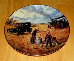 Collector Plate Farming The Heartland Danbury Mint Bountiful Harvest