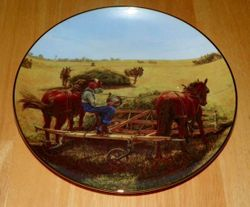 Collector Plate Farming The Heartland Danbury Mint Taking a Breather