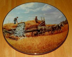 Collector Plate Farming The Heartland Danbury Mint Harvesting at Last