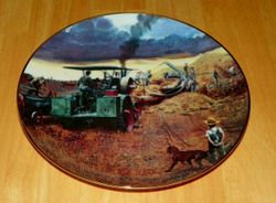 Collector Plate Farming The Heartland Danbury Mint Beating the Storm