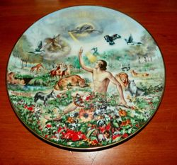 1978 Vintage Collector Plate The Creation Series In His Image