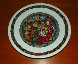 Limoges Collector Plates Noel Stained Glass