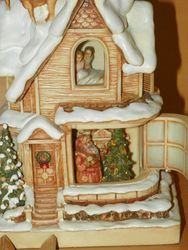 Olszewski Studios Harmony Ball Luminiart Worlds of Wonder Christmas House - illuminated sculpture SOLD