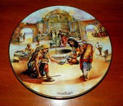 1978 Vintage Collector Plate The Creation Series Rebekah at the Well