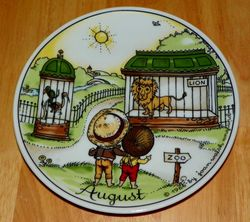 West Germany 2 Monthly Collector Plate The Good Idea - August 1966
