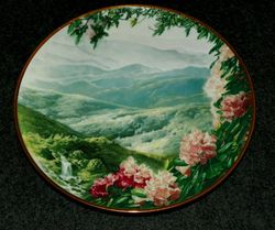 Vintage Collector Plate Blue Ridge Mountains Sea To Shining Sea Collection