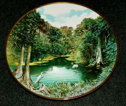 Vintage Collector Plate Florida Everglades Sea To Shining Sea Collection Out of Stock