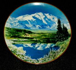 Vintage Collector Plate Mount McKinley Sea To Shining Sea Collection
