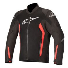 Alpinestars Viper V2 Air Black / Flo Red Motorcycle Jacket