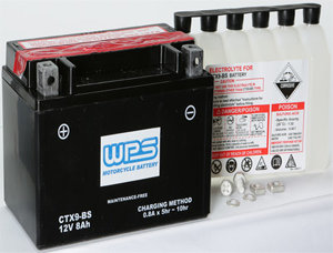 WPS CTX9-BS Maintence Free Battery CBR GSX-R