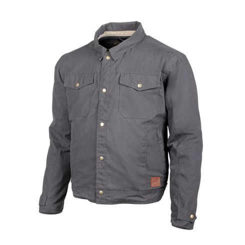 "Cortech ""The Denny"" Charcoal Canvas Motorcycle Jacket"