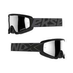 EKS Brand 2019 Flat Out Black/Silver MX Goggle