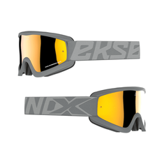 Eks Brand 2019 Flat Out Grey / Gold MX Goggle