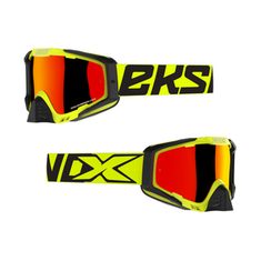 EKS Brand EKS-S Flo Yellow/Black MX Goggle
