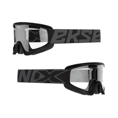 EKS Brand GOX Flat Out Black/Clear MX Goggle
