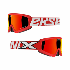 EKS Brand GOX Flat Out Red/Blk MX Goggle