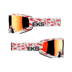 EKS Brand GOX Scatter X White / Red MX Goggle