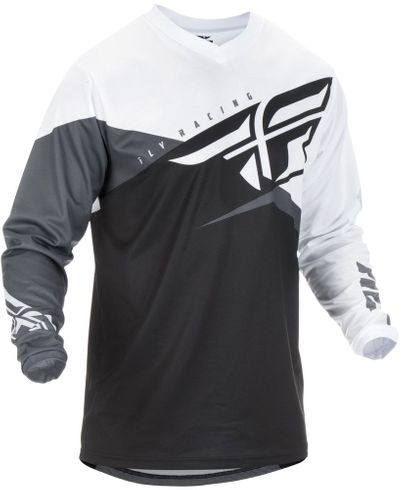 Fly Racing F-16 Blk/White MX Jersey