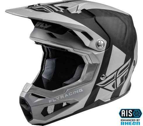 Fly Racing Formula Origin Silver Motocross Helmet
