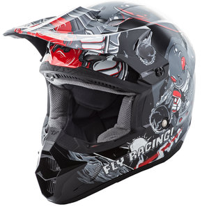 Fly Racing Kinetic Invazion Grey Youth MX Helmet