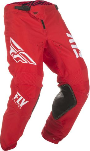 Fly Racing Kinetic Shield Red/White MX Pant